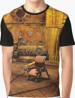 Steampunk Time Machine Graphic T-Shirt