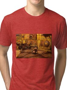 Steampunk Time Machine Tri-blend T-Shirt