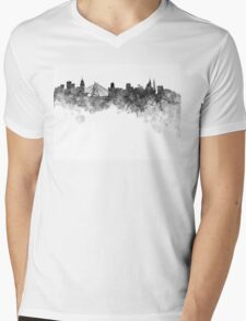 Sao Paulo skyline in black watercolor on white background Mens V-Neck T-Shirt