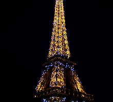 The Eiffel Tower at Night by Adele2
