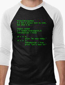 I don't always test my code... Men's Baseball ¾ T-Shirt