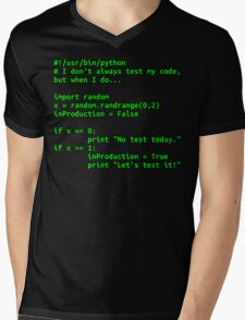 I don't always test my code... Mens V-Neck T-Shirt