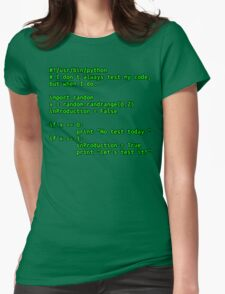 I don't always test my code... Womens Fitted T-Shirt