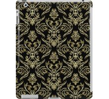 Black And Gold Vintage Floral Damasks Pattern iPad Case/Skin