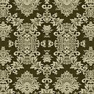 Black And Beige Vintage Floral Lace Design by artonwear
