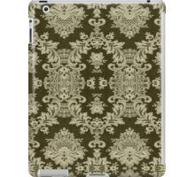 Black And Beige Vintage Floral Lace Design iPad Case/Skin
