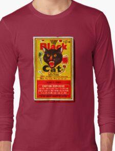 Black Cat Fireworks T-Shirt Long Sleeve T-Shirt