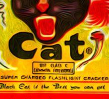 Black Cat Fireworks T-Shirt Sticker