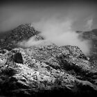 B/W Snowy Mountain by Kimberly Chadwick