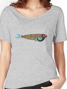 Symbols of Portugal - Cool Rooster Sardine Mix Women's Relaxed Fit T-Shirt