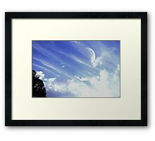 Afternoon Moon #3 Framed Print