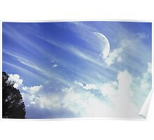 Afternoon Moon #3 Poster