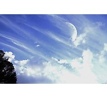 Afternoon Moon #3 Photographic Print