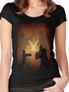 Master and Padawan Women's Fitted Scoop T-Shirt