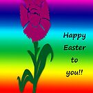 """Happy Easter""  greeting card by Deborah Lazarus"