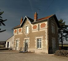 Cellettes Railway Station, France, Europe 2012 by muz2142