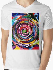 multi-coloured craze Mens V-Neck T-Shirt