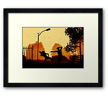 Dancing in The Flames Framed Print