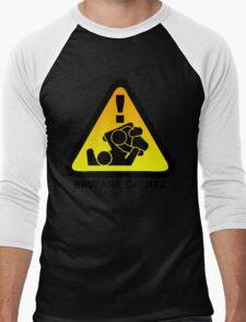 Beware of Jitz (Jiu Jitsu) 2 Men's Baseball ¾ T-Shirt