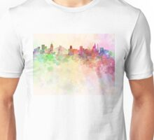 Sao Paulo skyline in watercolor background Unisex T-Shirt