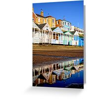 Reflected Beach Huts Greeting Card