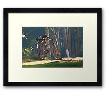 Stand in the place that you are Framed Print