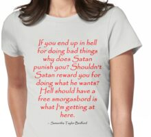 Satanic Smorgasbord Womens Fitted T-Shirt