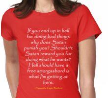 Satanic Smorgasbord (White) Womens Fitted T-Shirt