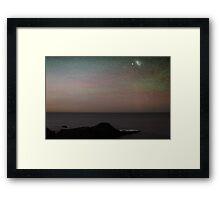 Comet and Aurora Framed Print