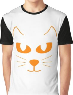 Cat's Face Graphic T-Shirt