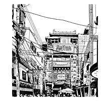 Yokohama - China town Photographic Print