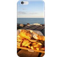 Fish 'n' Chips by the beach iPhone Case/Skin