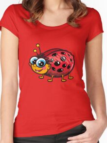 Cute Ladybug Women's Fitted Scoop T-Shirt