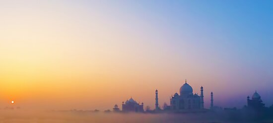 Sunrise over the Taj Mahal by David Alexander Elder