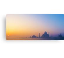 Sunrise over the Taj Mahal Canvas Print