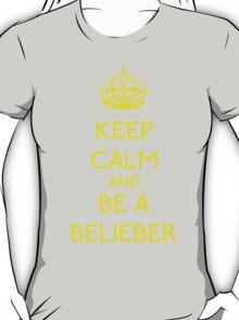 Keep Calm and be a Belieber (Yellow) T-Shirt