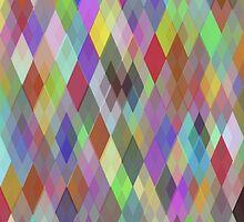 Multicolor Geometric Pattern  by AdrianeJ