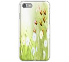 Yellow and Blue Flowers, Roses and Butterflies  iPhone Case/Skin