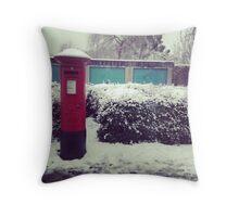 Pillar Box. Snow. Throw Pillow