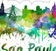 Sao Paulo skyline in watercolor Sticker