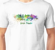 Sao Paulo skyline in watercolor Unisex T-Shirt