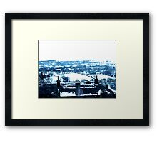 Snowy view Framed Print