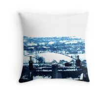 Snowy view Throw Pillow