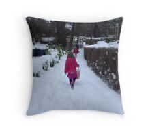 Buxton. Snow. Throw Pillow