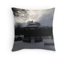 Bandstand. Buxton. Snow. Throw Pillow