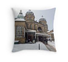 Buxton Opera House. Snow. Throw Pillow
