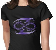Infinity Dragons_Purple Womens Fitted T-Shirt
