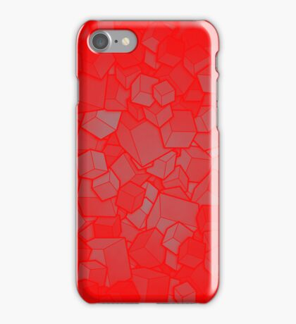 Boxes - Red iPhone Case/Skin