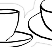 Two Tea Cups Sticker