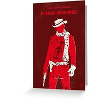 No184 My Django Unchained minimal movie poster Greeting Card